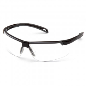 PYRAMEX EVER-LITE SAFETY SPECS BLACK CLEAR LENS