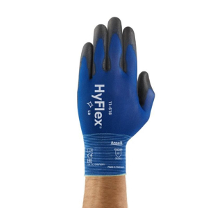 ANSELL PU ON NYLON LINER PALM COATED GLOVE BLUE/BLACK SZ 9 (L)