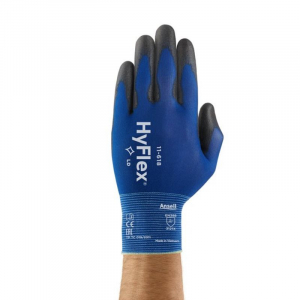 ANSELL PU ON NYLON LINER PALM COATED GLOVE BLUE/BLACK SZ 10 (XL)