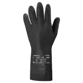 ANSELL EDMONT 87-950 LATEX GLOVE BLACK SZ X-LARGE