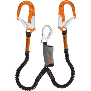 SKYLOTEC SKYSAFE PRO FLEX Y TWIN LANYARD ORANGE HOOKS 1.8M