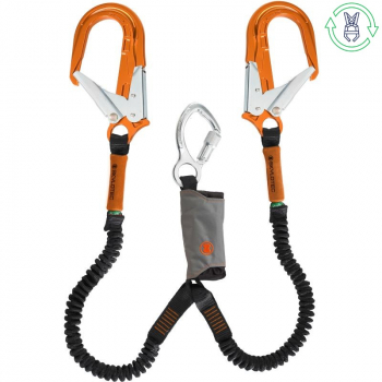 HIRE SKYLOTEC LANYARD TWIN SKYSAFE PRO FLEX Y 1.8M ORANGE