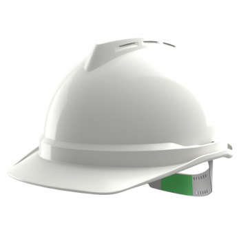 MSA V-GARD 500 NON-VENTED HARD HAT WITH PUSH KEY HARNESS