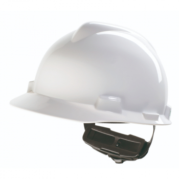 MSA V-GARD HARD HAT WITH FAS-TRAC III SUSPENSION