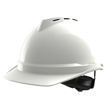 MSA V-GARD 500 VENTED HARD HAT WITH FAS-TRAC III SUSPENSION