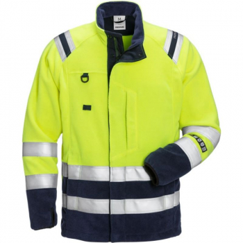 FRISTADS FLAMESTAT HI-VIS FLEECE JACKET CLASS 3 4063 ATF
